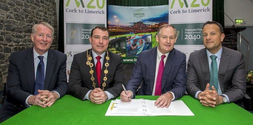 Contract Awarded for M20 Cork to Limerick Road Improvement Scheme